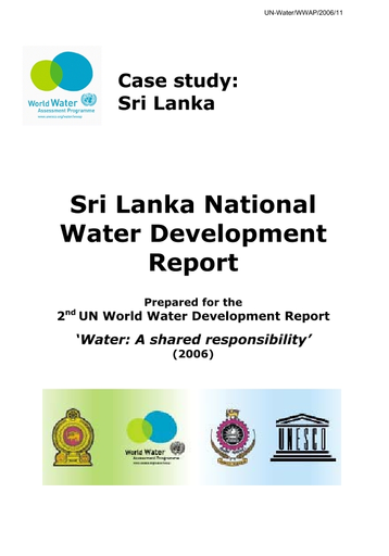 Sri Lanka national water development report - UNESCO Digital