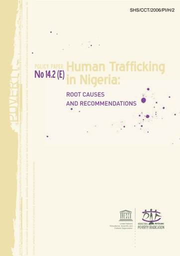 Human trafficking in Nigeria: root causes and