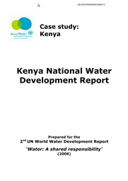 Kenya national water development report: case study - UNESCO