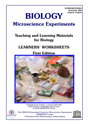 Biology microscience experiments: teaching and learning