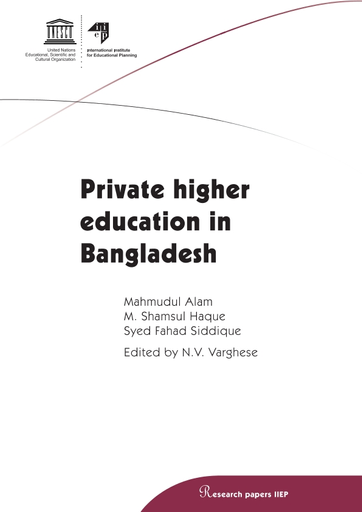 Private higher education in Bangladesh - UNESCO Digital Library