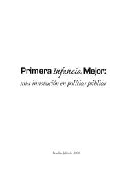 Primera Infancia Mejor: una innovación en política pública