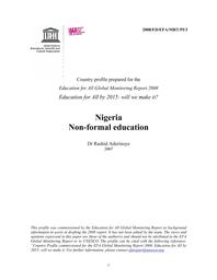 Nigeria: non-formal education - UNESCO Digital Library