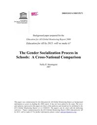The Gender socialization process in schools: a cross