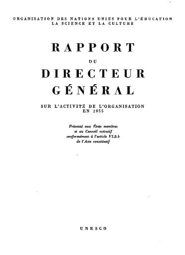 Rapport Du Directeur Général Sur L Activité De L