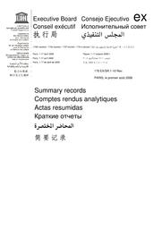 Summary Records Of The 179th Session Of The Executive Board