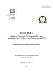 General studies: National Technical Certificate (NTC) and