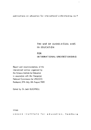 The Use Of Audio Visual Aids In Education For International Understanding Report And Recommendations Unesco Digital Library