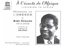 Hommage De Lunesco à Aimé Césaire 1913 2008 Paris 22 Mai