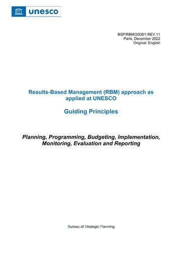 results based programming budgeting