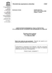 Rapports Des Experts Sur Le Traitement Préférentiel Article