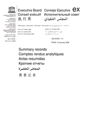 Summary Records Of The 180th Session Of The Executive Board