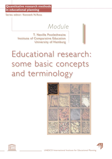 Educational research: some basic concepts and terminology