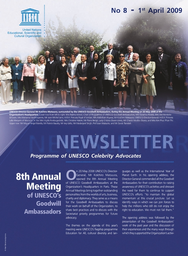 Newsletter Programme Of UNESCO Celebrity Advocates No 8 April