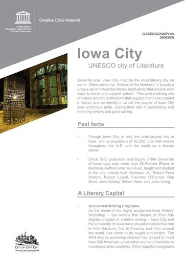 Iowa City: UNESCO city of Literature - UNESCO Digital Library