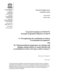 External evaluation of UNESCO's strategic programme
