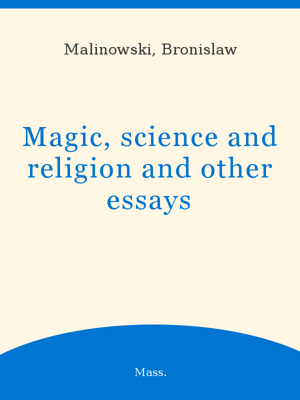 Magic Science And Religion And Other Essays  Unesco Digital Library Picture Book Magic Science And Religion And Other Essays