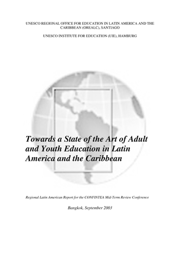Towards A State Of The Art Of Adult And Youth Education In