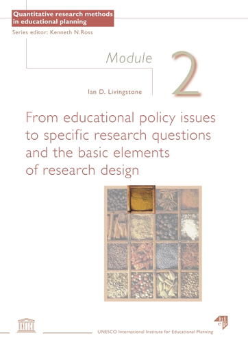 From educational policy issues to specific research