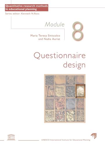questionnaire design module 8 unesco digital library