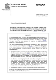Report By The Director General On The Implementation Of The