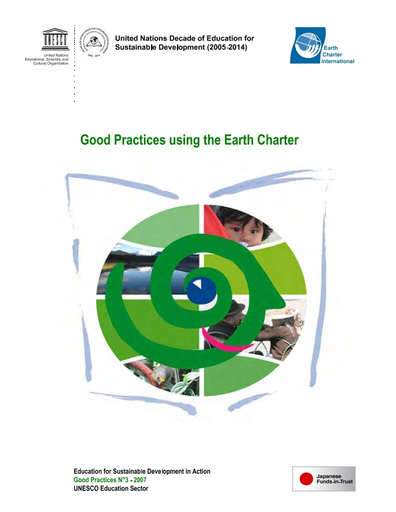 Good practices in education for sustainable development