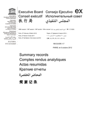 Summary Records Of The 189th Session Of The Executive Board