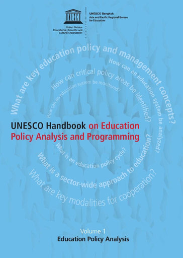 Unesco Handbook On Education Policy Analysis And Programming Volume 1 Education Policy Analysis Unesco Digital Library