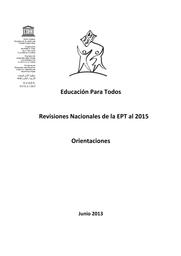 Educación Para Todos Revisiones Nacionales De La Ept Al