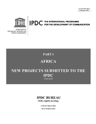 New projects submitted to the IPDC - UNESCO Digital Library