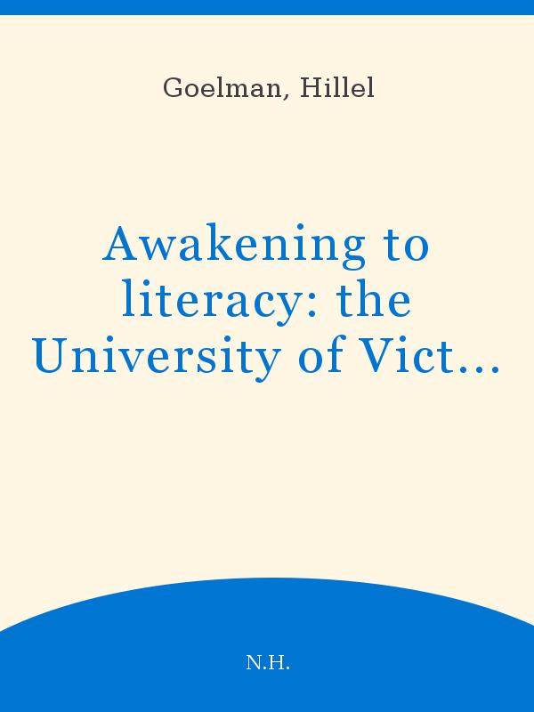 Awakening to Literacy