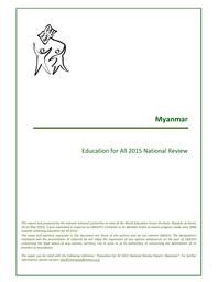 National EFA review report: Myanmar - UNESCO Digital Library