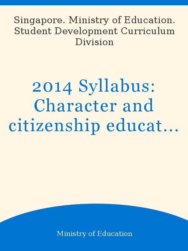 2014 Syllabus: Character and citizenship education