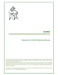 Zambia: Education for All 2015 national review - UNESCO Digital Library