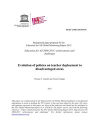 Evolution Of Policies On Teacher Deployment To Disadvantaged Areas