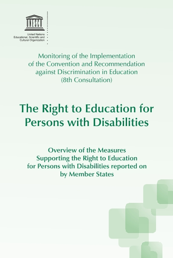 The Right to education for persons with disabilities