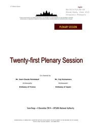 Twenty-first plenary session - UNESCO Digital Library