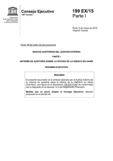 Nuevas Auditorías Del Auditor Externo Unesco Digital Library