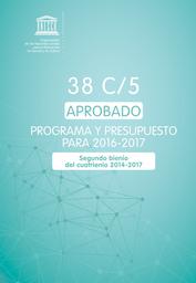 38 C 5 Appobado Programa Y Presupuesto Para 2016 2017