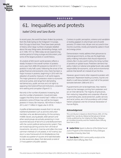 Inequalities and protests; postcard - UNESCO Digital Library