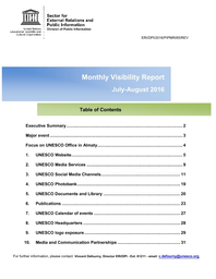 foto de Monthly visibility report, July-August 2016 - UNESCO Digital Library