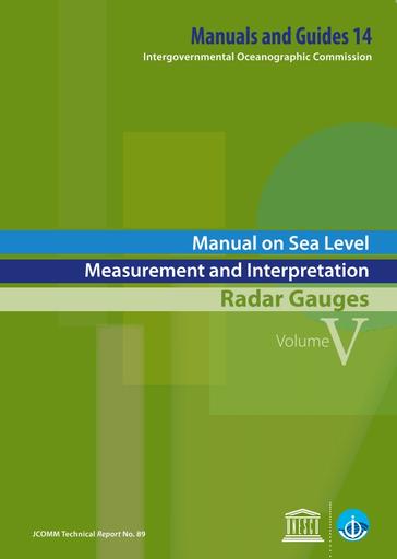 Manual On Sea Level Measurement And Interpretation V V Radar Gauges Unesco Digital Library