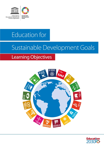 Education for Sustainable Development Goals: learning