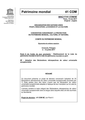 Adoption Des Déclarations Rétrospectives De Valeur