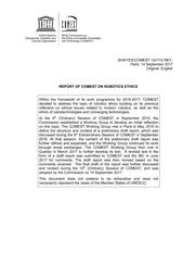 Report of COMEST on robotics ethics - UNESCO Digital Library