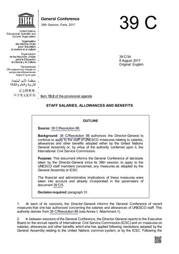 Staff Salaries Allowances And Benefits Unesco Digital Library