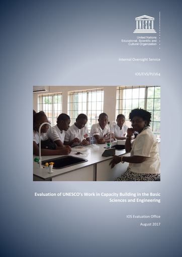 Evaluation Of Unesco S Work In Capacity Building In The Basic Sciences And Engineering Unesco Digital Library