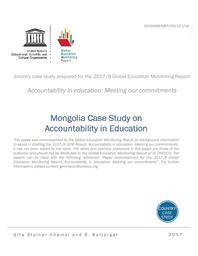 Mongolia case study on accountability in education - UNESCO Digital