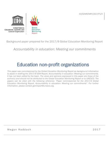 Education non-profit organizations - UNESCO Digital Library