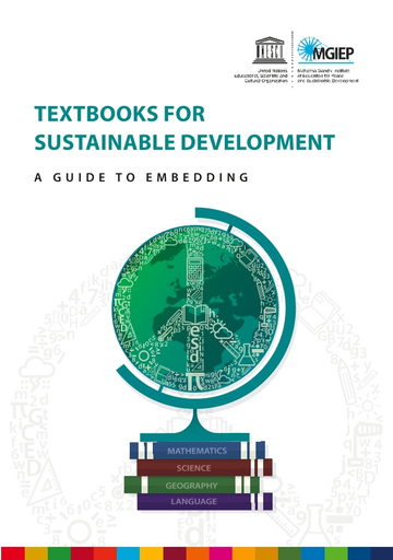 Textbooks For Sustainable Development A Guide To Embedding Unesco Digital Library